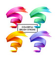 set abstract colorful wave flow design elements vector image