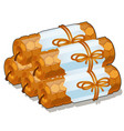 set of handmade candles of beeswax isolated on vector image vector image