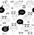 Set owl bubbles on white background vector image vector image
