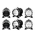 set vintage wooden barrels in different vector image vector image