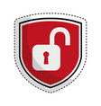 shield insurance with padlock isolated icon vector image vector image