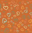 simply hearts seamless tile valentines day vector image vector image
