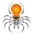 spider robot mechanical insect on a white vector image vector image