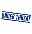 square grunge blue under threat stamp vector image vector image