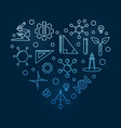 stem heart concept blue modern linear vector image vector image
