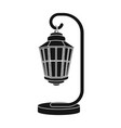 street lights in retro style lamppost single icon vector image vector image
