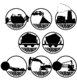 The coal-mining industry-1 vector image vector image