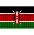 The mosaic flag of Kenya vector image