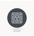 USA socket icon Electricity power adapter