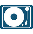 vintage vinyl record player top view icon vector image vector image