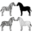 Zebra silhouettes set vector | Price: 1 Credit (USD $1)