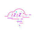 zzz sleeping bubble vector image