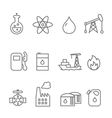 Oil and petrol industry line icon set Tanker and vector image