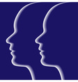 profiles on blue background vector image