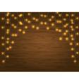 yellow LED Light Christmas Garland vector image