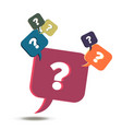 information exchange faq icon help question and vector image