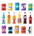 soft drinks bottles vector image