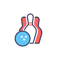 bowling - modern line design single icon vector image