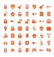 49 lock icons vector image vector image