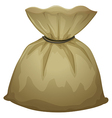 A brown pouch bag vector image vector image