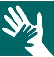 baby hand in adult hand vector image