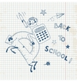 Back to school Schoolboy endearing knowledge vector image