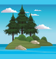 beautiful landscape scenery vector image vector image