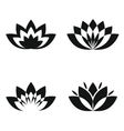 Black silhouette flowers on white background vector image vector image