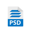 blue icon psd file format extensions icon vector image