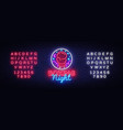 boxing neon sign boxing night design vector image