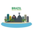 brazil rio de janeiro touristics places design vector image vector image