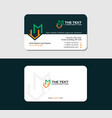 business card with letter m and loft icon vector image vector image