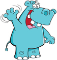 Cartoon Hippo Waving vector image vector image
