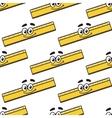 Cartoon ruler seamless pattern vector image