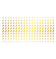 chili pepper gold halftone pattern vector image