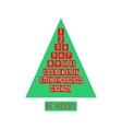Christmas advent calendar vector image vector image