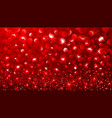 Christmas Red bokeh effect vector image vector image