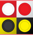 circle banner with copy space white red black vector image vector image