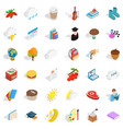 cold autumn icons set isometric style vector image vector image