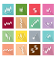 Collection of 16 LinearRegression Chart Icons vector image