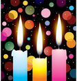 colorful candles vector image vector image
