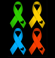 Colourful Ribbons vector image vector image