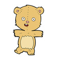 comic cartoon dancing teddy bear vector image vector image