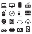 computer and accessories icons set vector image