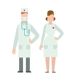 Doctor people man and woman vector image vector image