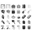 e-commerce purchase and sale blackmonochrome vector image vector image