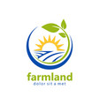 farmland organic natural logo vector image