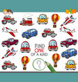 find one of a kind activity vector image vector image