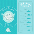 Fish menu set vector image vector image