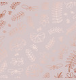floral pattern with rose gold imitation for vector image vector image